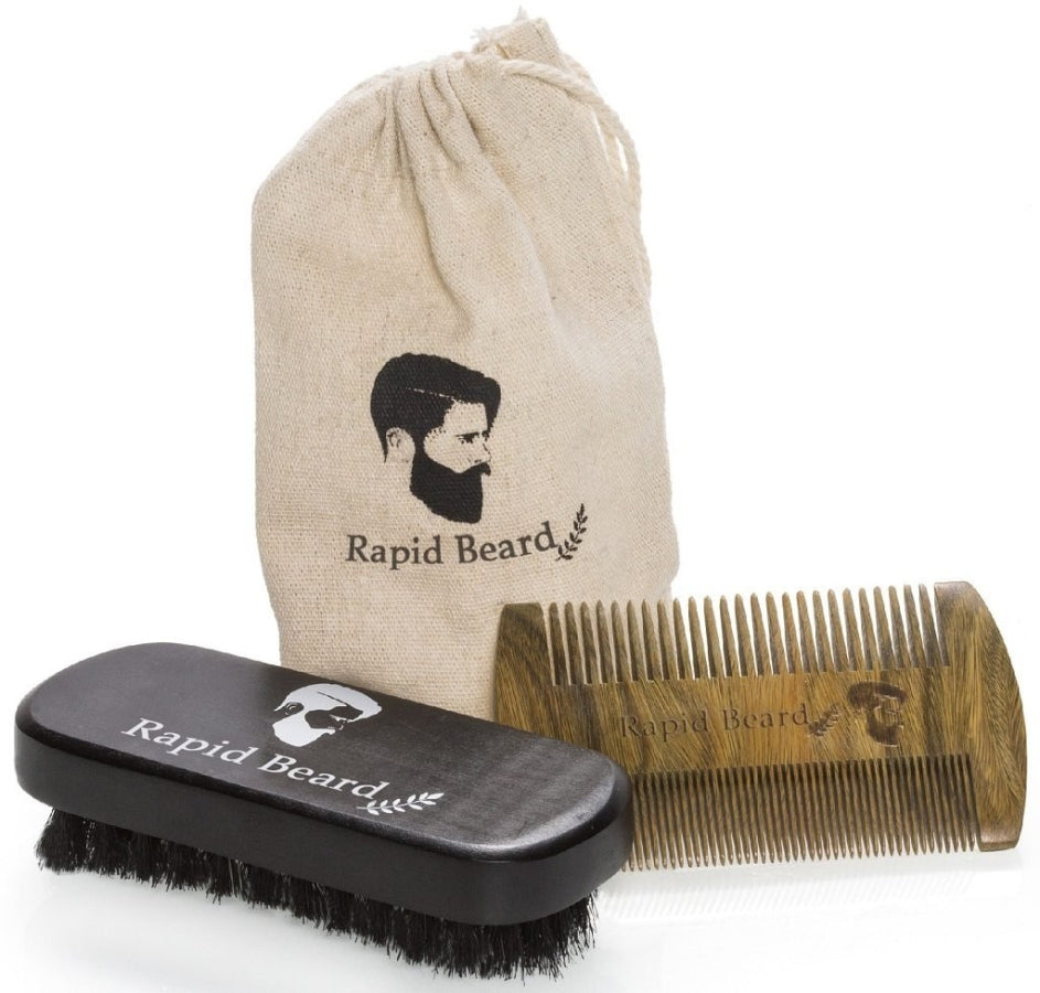 Beard Brush & Comb Kit 2