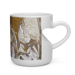 GOLD RUSH  Heart Shape Handle Mug  11 oz.
