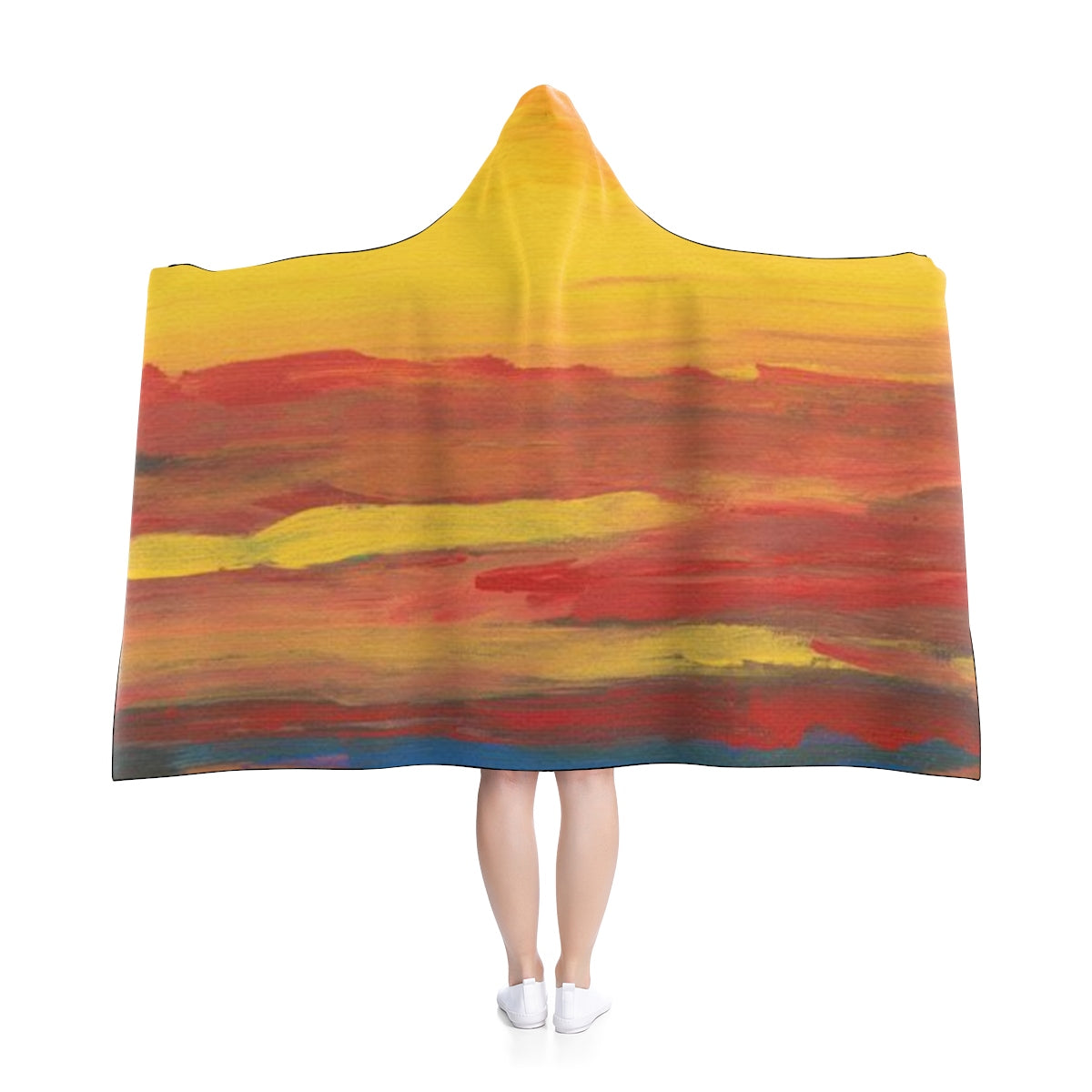 "SUNSRISE SUNSET Hooded Blanket 50"" x 40"""