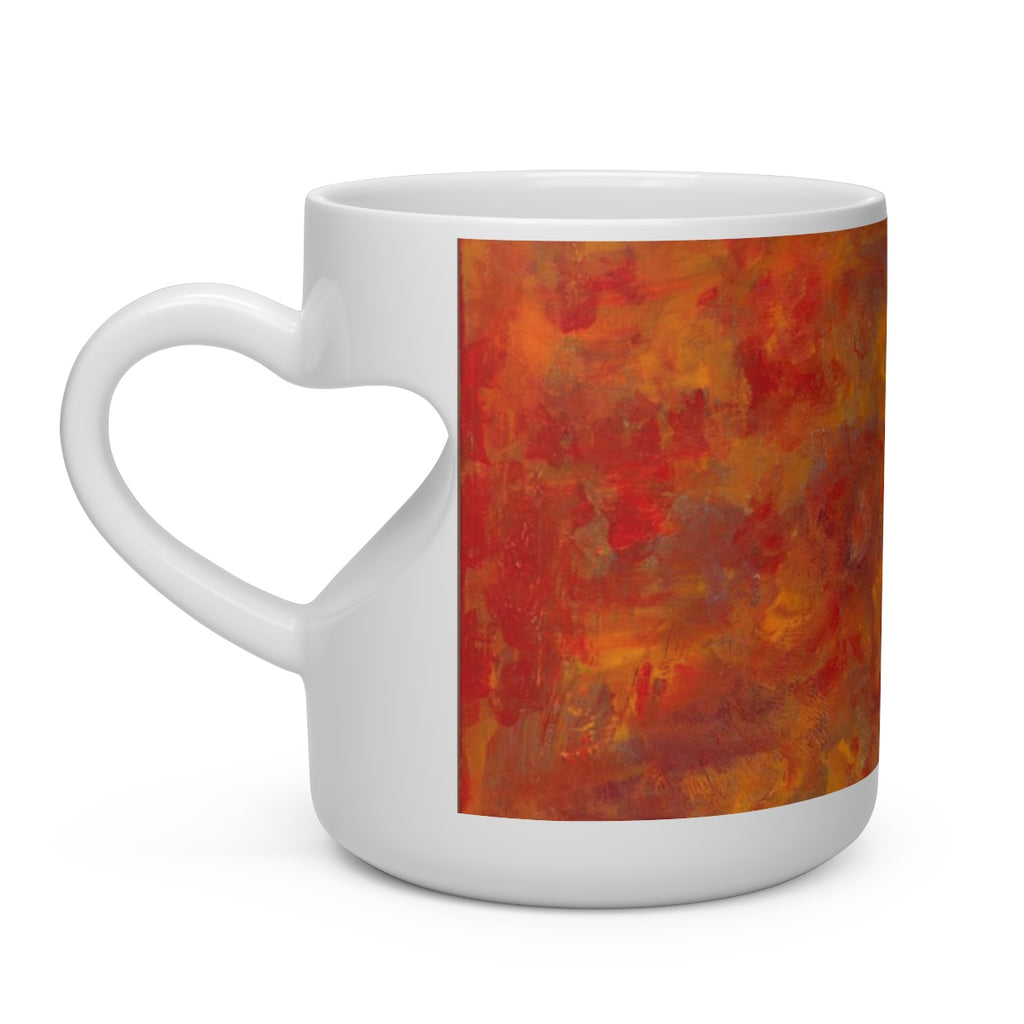 LAVA FLOW  Heart Shape Mug   11oz.