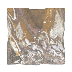 "GOLD RUSH Poly VOILE  Scarf  25"" x 25"""