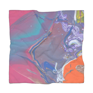 "UNDER WATER LIFE 2 Poly CHIFFON  Scarf  50""x 50"""