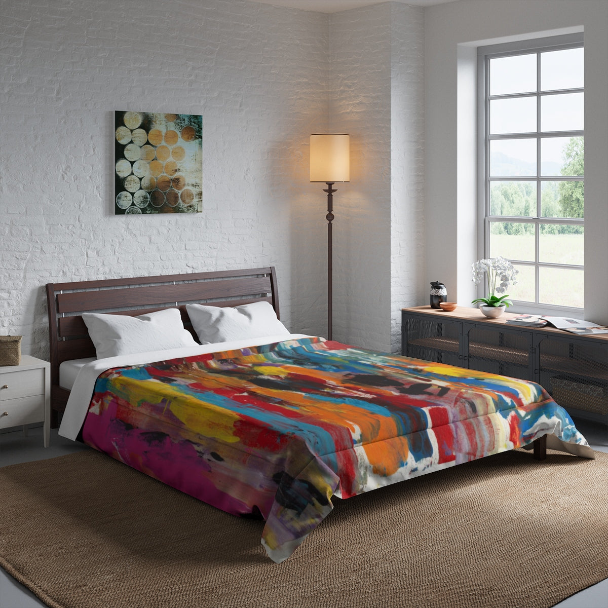 "COLOR FUSION  Comforter  104"" x 88"""