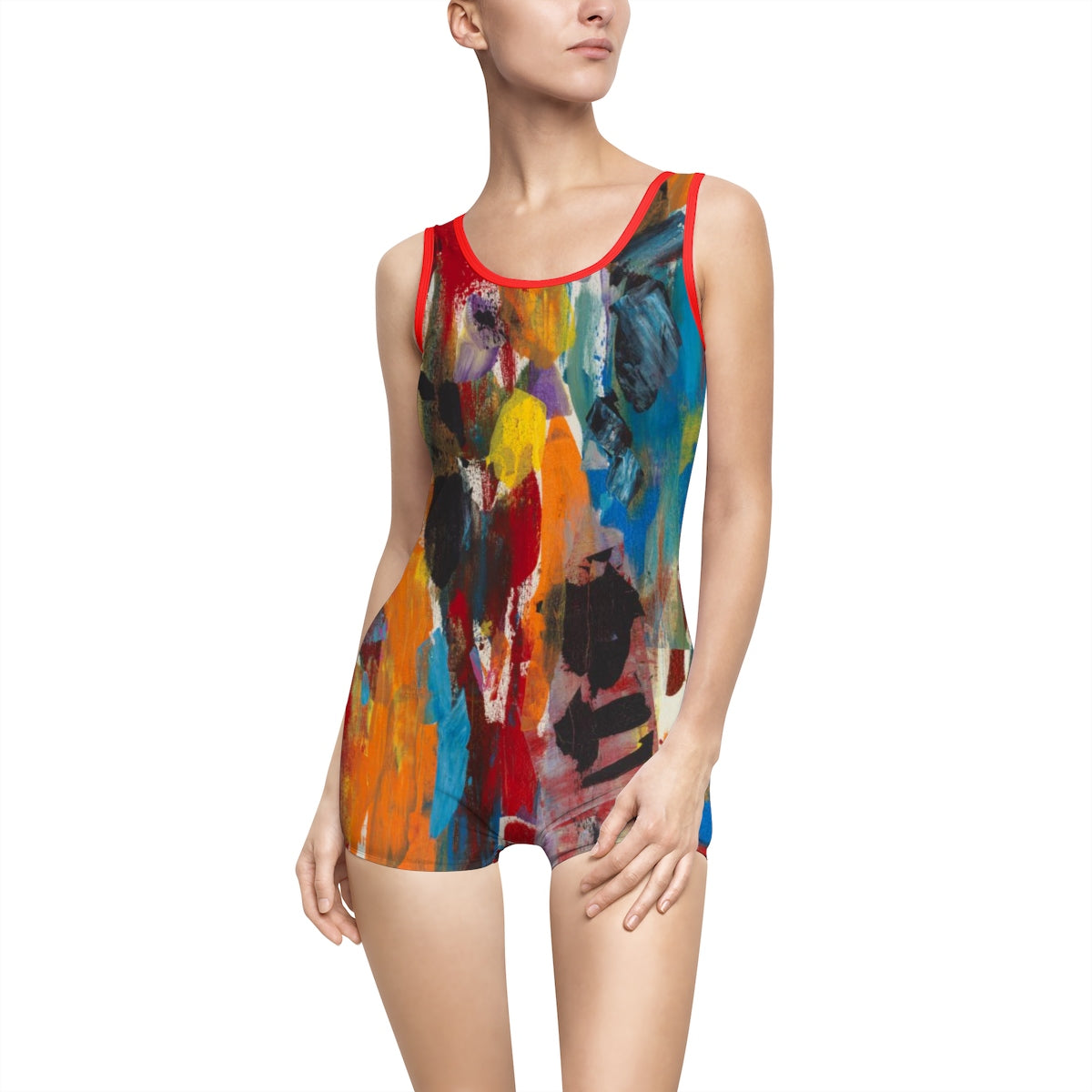 COLOR FUSION  Women's Vintage Swimsuit  SIZES XS - 3 XL