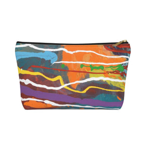 MARDI GRAS Accessory Pouch w T-bottom  SMALL