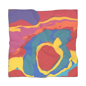 "COLOR MERGE Poly CHIFFON  Scarf  50"" x 50"""