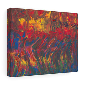 "AFRICAN DANCERS Canvas Gallery Wraps  10"" x 8"""