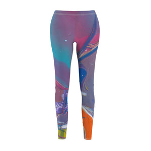 UNDER  WATER  LIFE  2 Women's  Casual Leggings  SIZES SX - 2XL