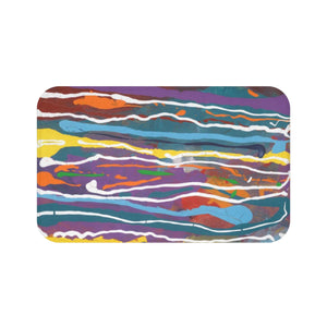 "MARDI GRAS Bath Mat   LARGE   34"" x 21""   SMALL  24"" x 17"""