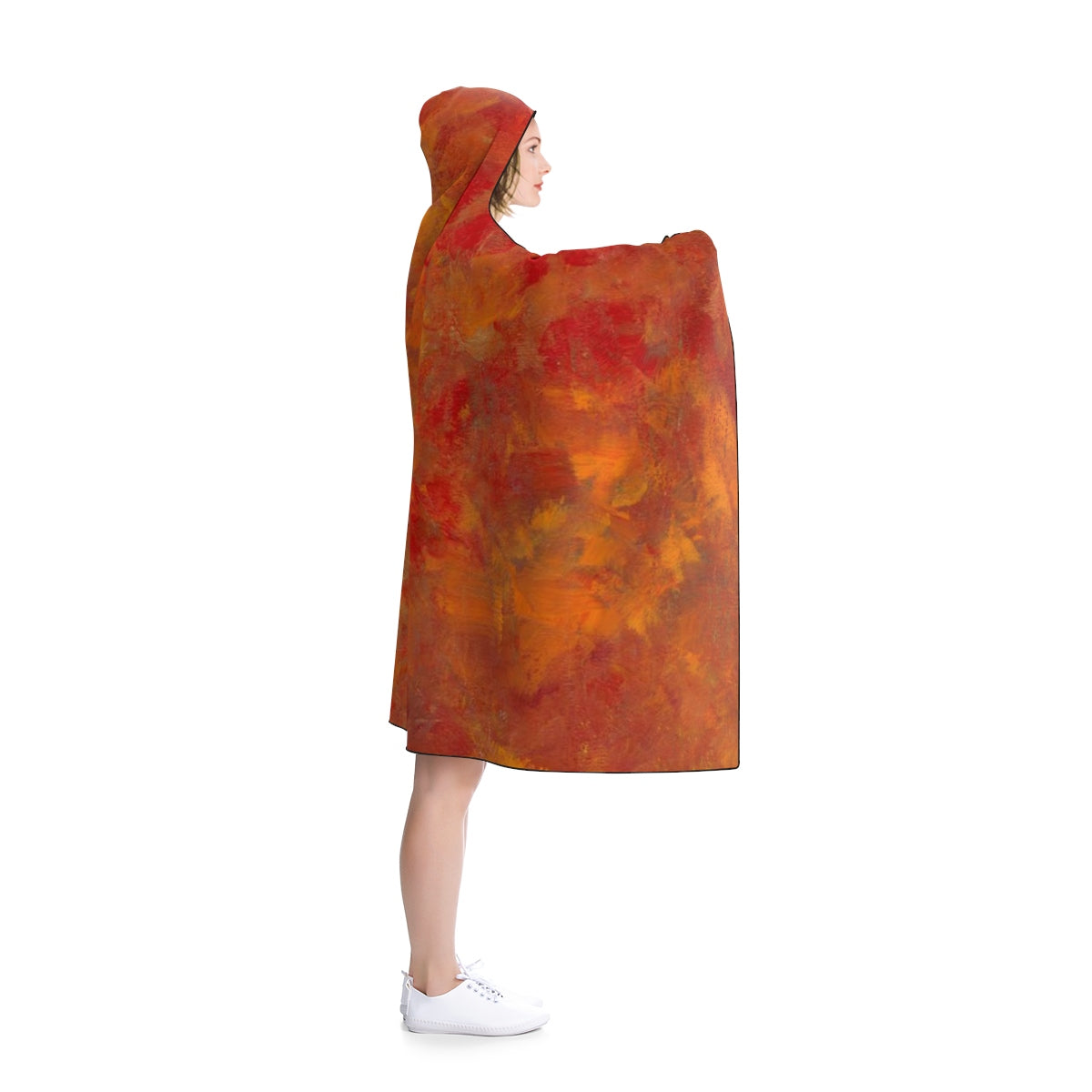 "LAVA FLOW Hooded Blanket  80"" x 56"""