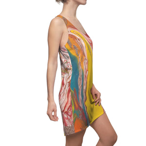 UNDERWATER  LIFE  Women's Cut & Sew Racerback Dress  SIZES  XS- 2XL