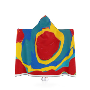 "COLOR MERGE UNISEX Hooded Blanket  80"" x 56"""