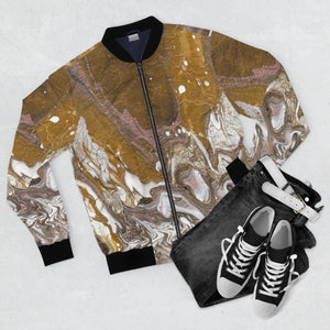 GOLD RUSH Unisex Bomber Jacket  SIZES  XS - 3 XL