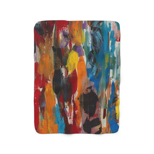 "COLOR FUSION  Sherpa Fleece Blanket  50"" x  60"""