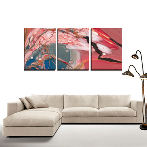 Bird Of Prey 3 Panel Canvas Print - Wall Art for Home Decorations