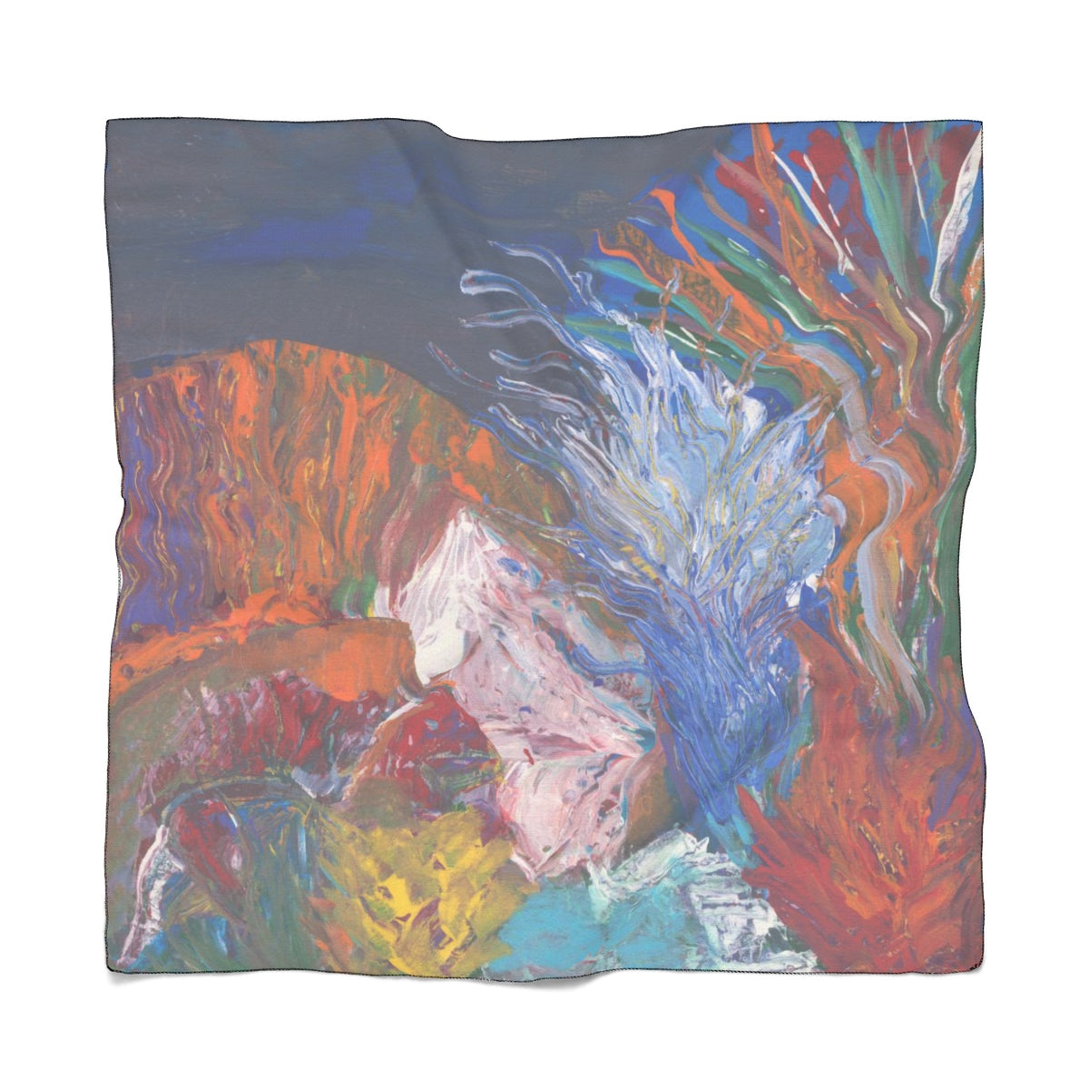 "SEA LIFE Poly VOILE Scarf    25"" x 25"""