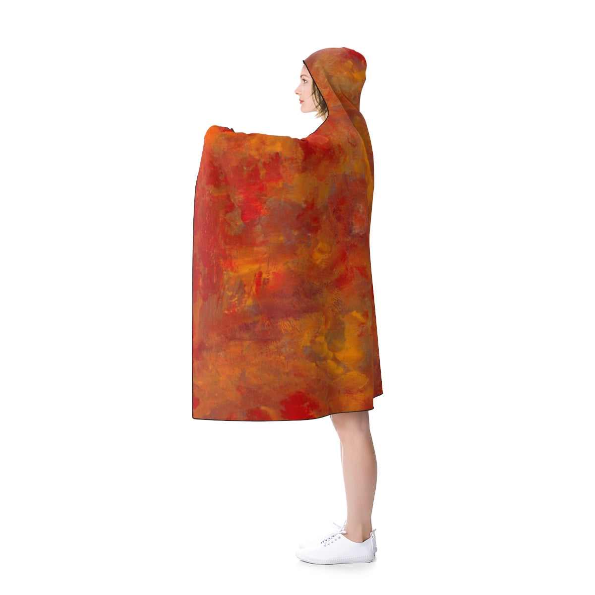 "LAVA FLOW Hooded Blanket  50"" x 40"""