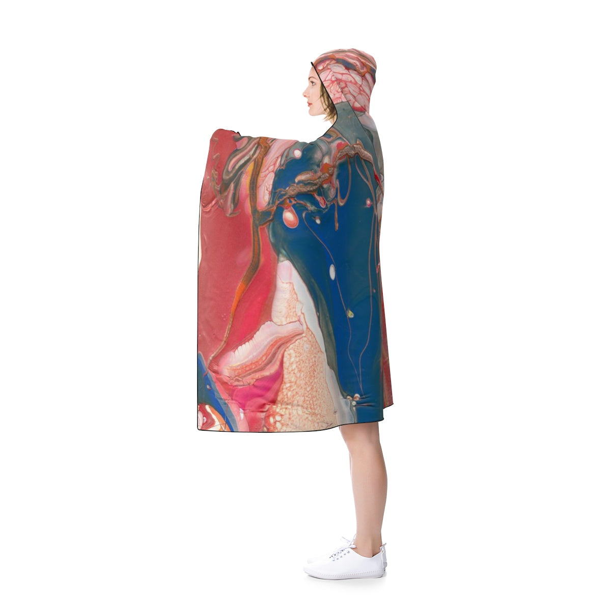 "BIRD OF PREY Hooded Blanket  80"" X 56"""