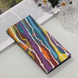 MARDI GRAS PU Leather Multi-Card Long Bifold Wallet