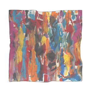 "COLOR FUSION Poly VOILE Scarf  25"" x  25"""