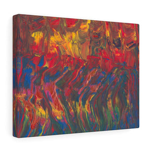"AFRICAN DANCERS  Canvas Gallery Wraps  14"" x  11"""