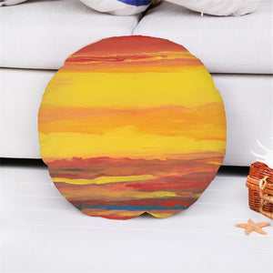 "SUNRISE SUNSET 16""  ROUND THROW  PILLOW"