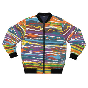 MARDI GRAS  AOP Bomber Jacket  SIZES  XS - 3XL