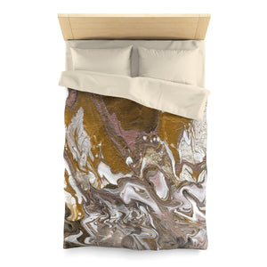 "GOLD RUSH  Microfiber Duvet Cover  QUEEN  88"" x 88"""