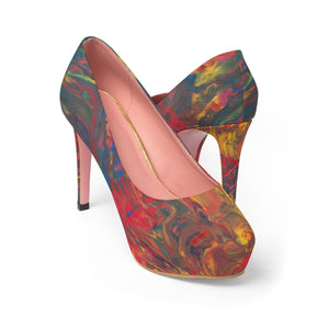 AFRICAN DANCERS  Women's Platform Heels   SIZES  5 -11