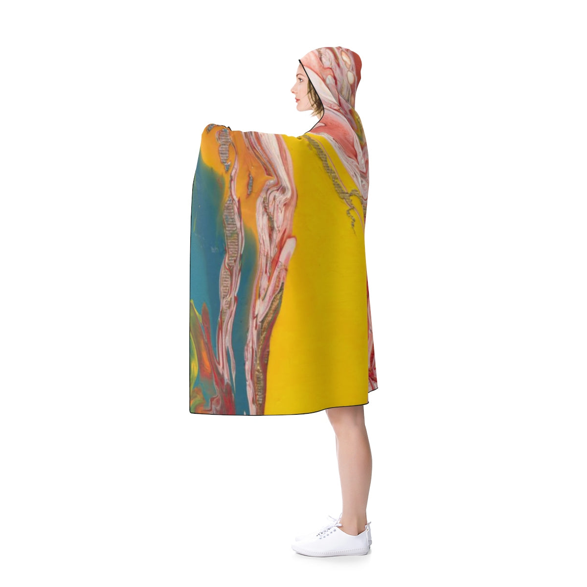 "UNDERWATER LIFE Hooded Blanket  80"" x 56"""""