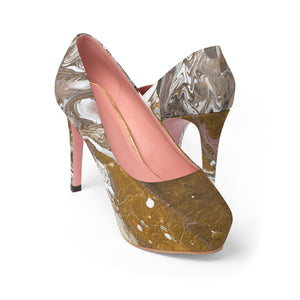 GOLD RUSH  Women's Platform Heels  SIZES  5 -11