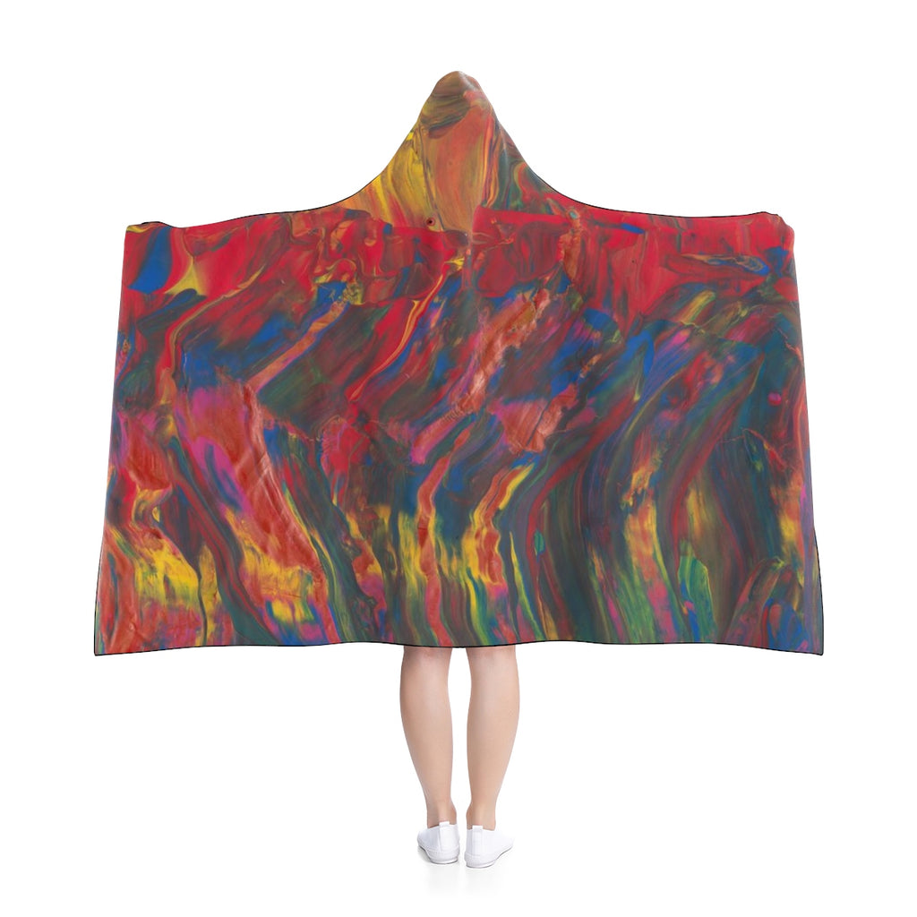 "AFRICAN DANCERS Hooded Blanket  80"" x 56"""