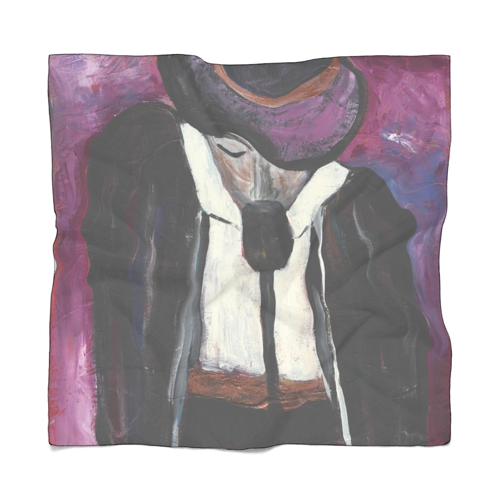 "THE ENTERTAINER Poly VOILE  Scarf   25"" x  25"""