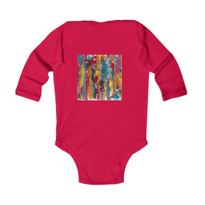 COLOR FUSION  Infant Long Sleeve Bodysuit  NB - 18 MONTHS