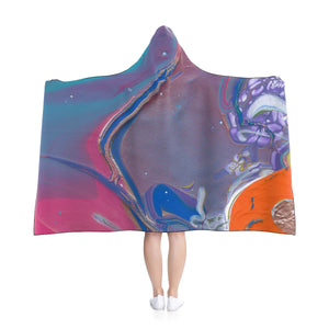 "UNDER WATER LIFE 2 Hooded Blanket  80"" x 56"""