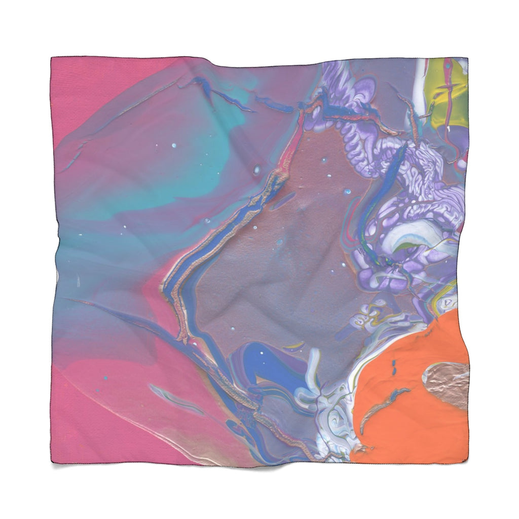 "UNDER WATER LIFE 2 Poly CHIFFON Scarf  25"" x  25"""
