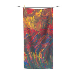 "AFRICAN DANCERS Polycotton Towel  36"" x 72"""