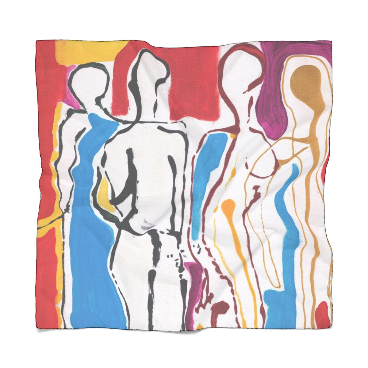 "4 BODIES Poly VOILE Scarf  25"" x 25"""