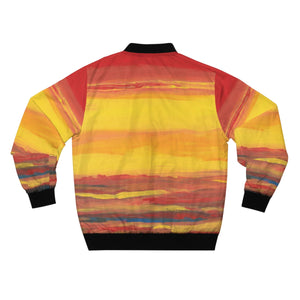 SUNRISE  SUNSET  Men's AOP Bomber Jacket  SIZES  XS - 3LX