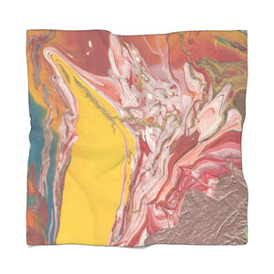 "UNDERWATER LIFE Poly VOILE Scarf  50"" x 50"""