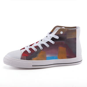 CAVE VIEW  High-top UNISEX Canvas Shoes