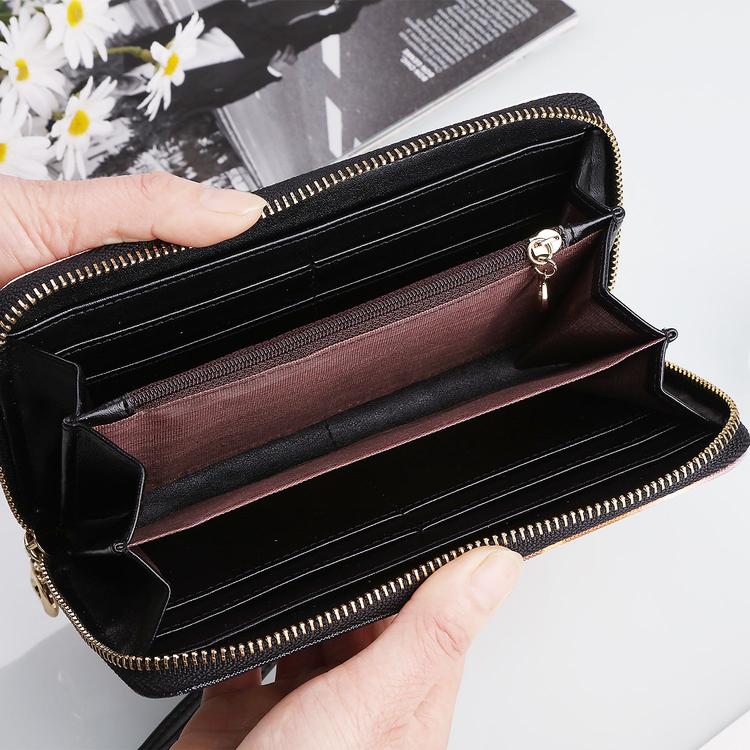 Bird Of Prey Faux Leather Wallet / Clutch Purse