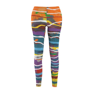 MARDI GRAS  Women's Cut & Sew Casual Leggings  SIZES  XS - 2XL