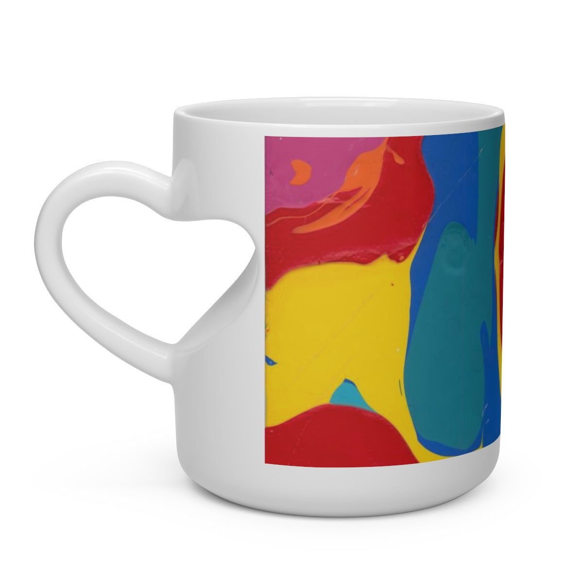 COLOR MERGE Heart Shape Handle Mug  11 oz.