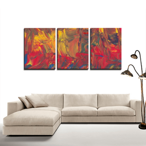 AFRICAN DANCERS  3 Panels Canvas Prints Wall Art for Wall Decorations