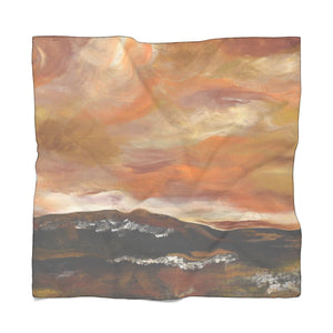 "GOLDEN  VALLEY Poly VOILE  Scarf 25"" x 25"""