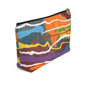 MARDI GRAS  Accessory Pouch w T-bottomn LARGE