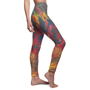 AFRICAN DANCERS  Women's  Casual Leggings  SIZES  XS - 2 XL
