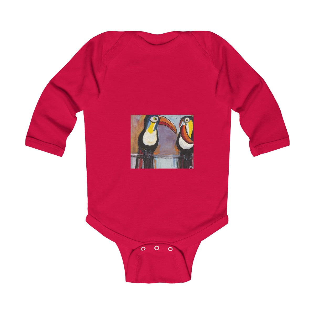 TOUCAN  Infant Long Sleeve Bodysuit  NB - 18 M