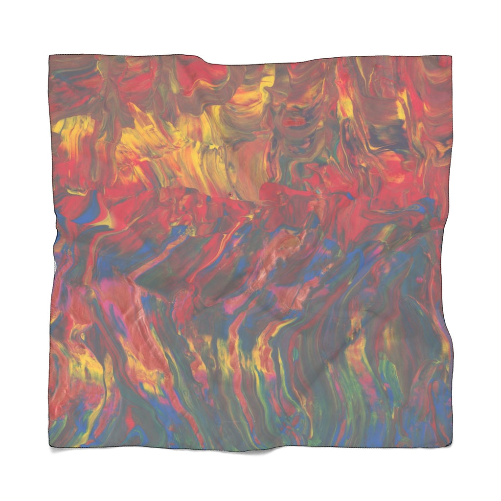 "AFRICAN DANCERS Poly VOILE  Scarf  25"" x  25"""